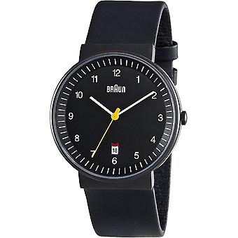 Braun classic gent Japanese Quartz Analog Man Watch with BN0032BKBKG Synthetic Leather Bracelet