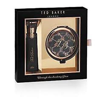 Ted Baker durch das aussehende Glas Ella Geschenk Set 10ml EDT + kompakten Spiegel