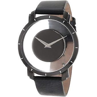 Akribos XXIV Männer AKR412BK Herren Quarz-Armbanduhr, Leder, schwarz