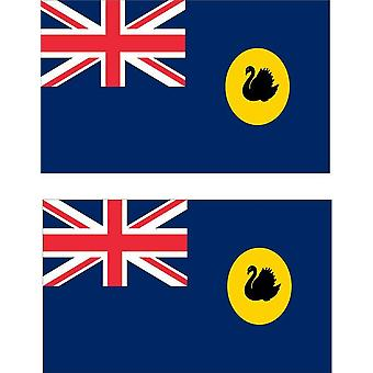 2 X Autocollant Sticker Voiture Moto Vinyl Macbook Drapeau Australie Occidentale