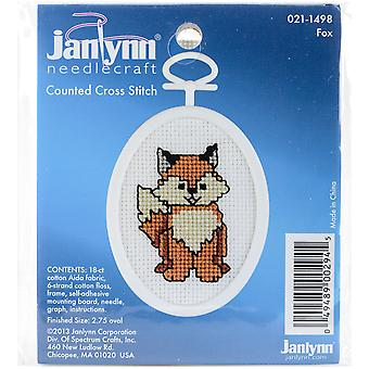 Fox Mini Counted Cross Stitch Kit-2.75