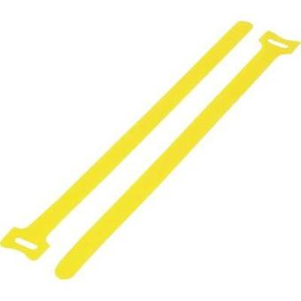Hook-and-loop cable tie for bundling Hook and loop pad (L x W) 135 mm x 12 mm Yellow KSS MGT-135YW 1 pc(s)
