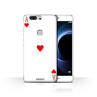 STUFF4 Case/Cover for Huawei Honor V8/Ace of Hearts/Playing Cards