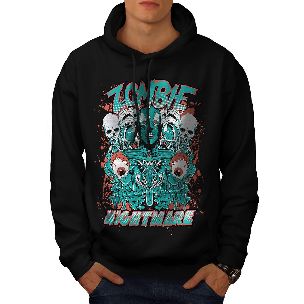Dead Zombie Nightmare Evil Gang Men Black Hoodie | Wellcoda