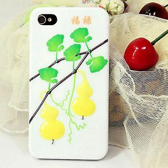 Bedek met reliëf kalebassen in hard plastic voor iPhone 4/4s