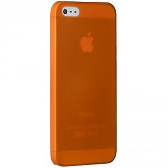 Knæk OC533OG O! Coat jelly slim 0.3 mm dække sag iPhone SE 5 / 5S Orange