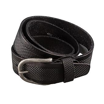 ALBERTO puntini retro belts men's belts leather belt black