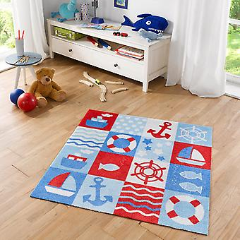Kids carpet of soft velour Nautic 100 x 100 cm. 102390
