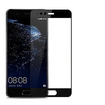 Fuld dækning hærdet glas skærm protektor For Huawei P10 sort