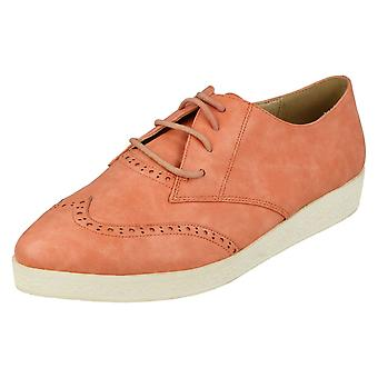 Ladies Spot On Lace Up Brogues F9813