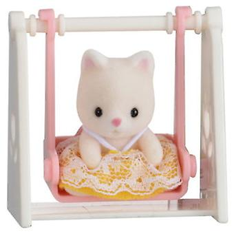 Sylvanian Families Carry bambino (Cat On Swing)