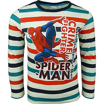 Jongens verwonderen Spiderman Long Sleeve Top strepen