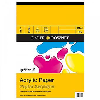 Daler Rowney System 3 Acrylic Gummed Pad A3