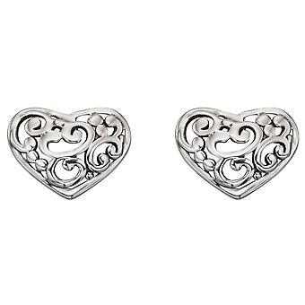 Orecchini cuore argento 925