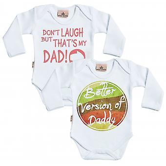 Spoilt Rotten Better Version Of Daddy & Don't Laugh Babygrow Set