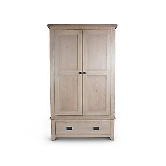 Direct Home Living Natural Oak Double Wardrobe With Drawer