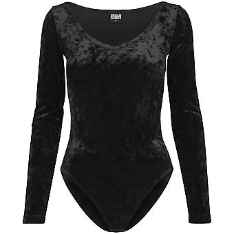 Urban Classics Ladies - VELVET Body schwarz