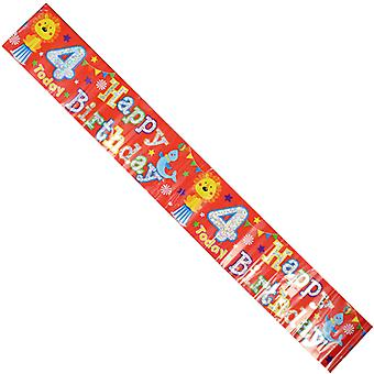 Celebration Party Banner Animal Circus 4th Birthday Decorations 2.6cm Long