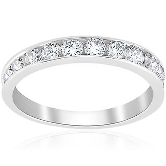 1ct Diamond Wedding Ring 14K White Gold