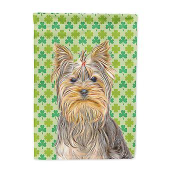 St. Patrick's Day Shamrock Yorkie / Yorkshire Terrier Flag Garden Size