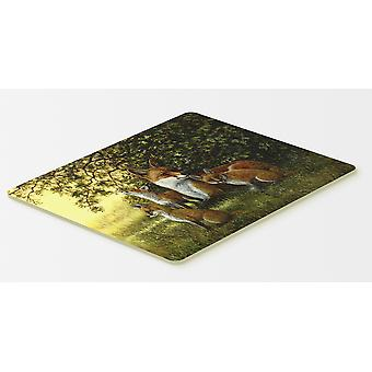 Foxes Resitng under the Tree Kitchen or Bath Mat 20x30