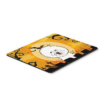 Halloween Bichon Frise Mouse Pad, Hot Pad or Trivet