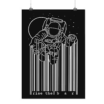 Matte or Glossy Poster with Space Astronaut Moon Geek | Wellcoda | *d2370