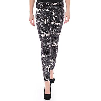 Maison Scotch Skinny Pant With Allover Print And Zip Details