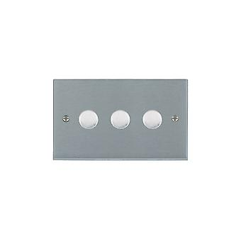 Hamilton Litestat Cheriton Victorian Satin Chrome 3g 400W 2 Way Dimmer SC