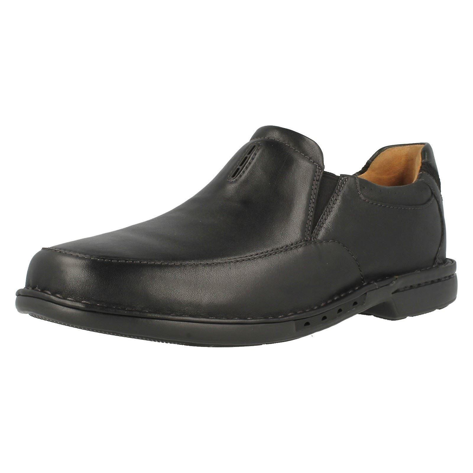 Mens Clarks Slip On Shoes From Unstructured Range 'Uncorner Twin'