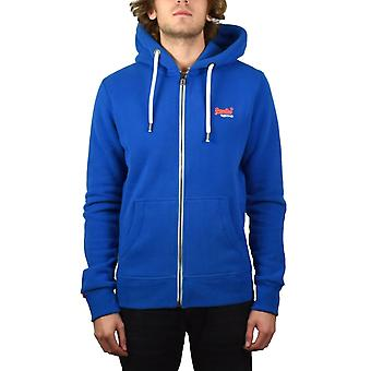 Superdry  Orange Label Zip Hoody (Cobalt Blue)