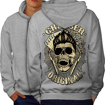 Grease Unique Card Men GreyHoodie Back | Wellcoda