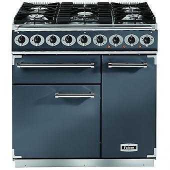 FALCON F900DXDFSL/NG 900 Deluxe Dual Fuel Range Cooker, Slate/ Nickel