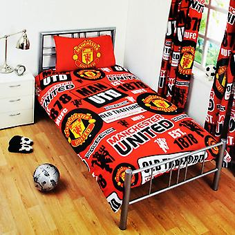 Manchester United Patch Single Duvet Cover Set