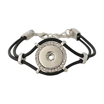 Leather Bracelet For Click Buttons Kb0241