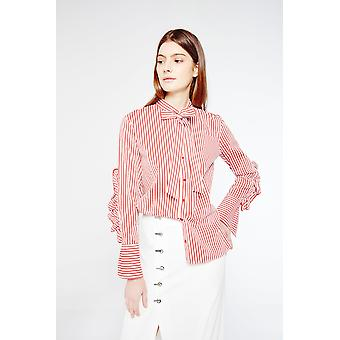 Style Mafia Striped Ruffle Shirt