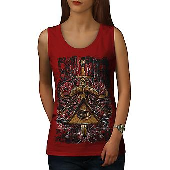 Triangle Society Women RedTank Top | Wellcoda