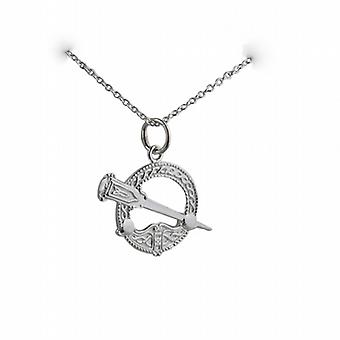 Silver 16x23mm Tara Pendant with a rolo Chain 24 inches