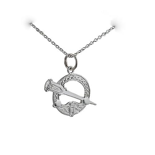 Silver 16x23mm Tara pendant with Rolo chain