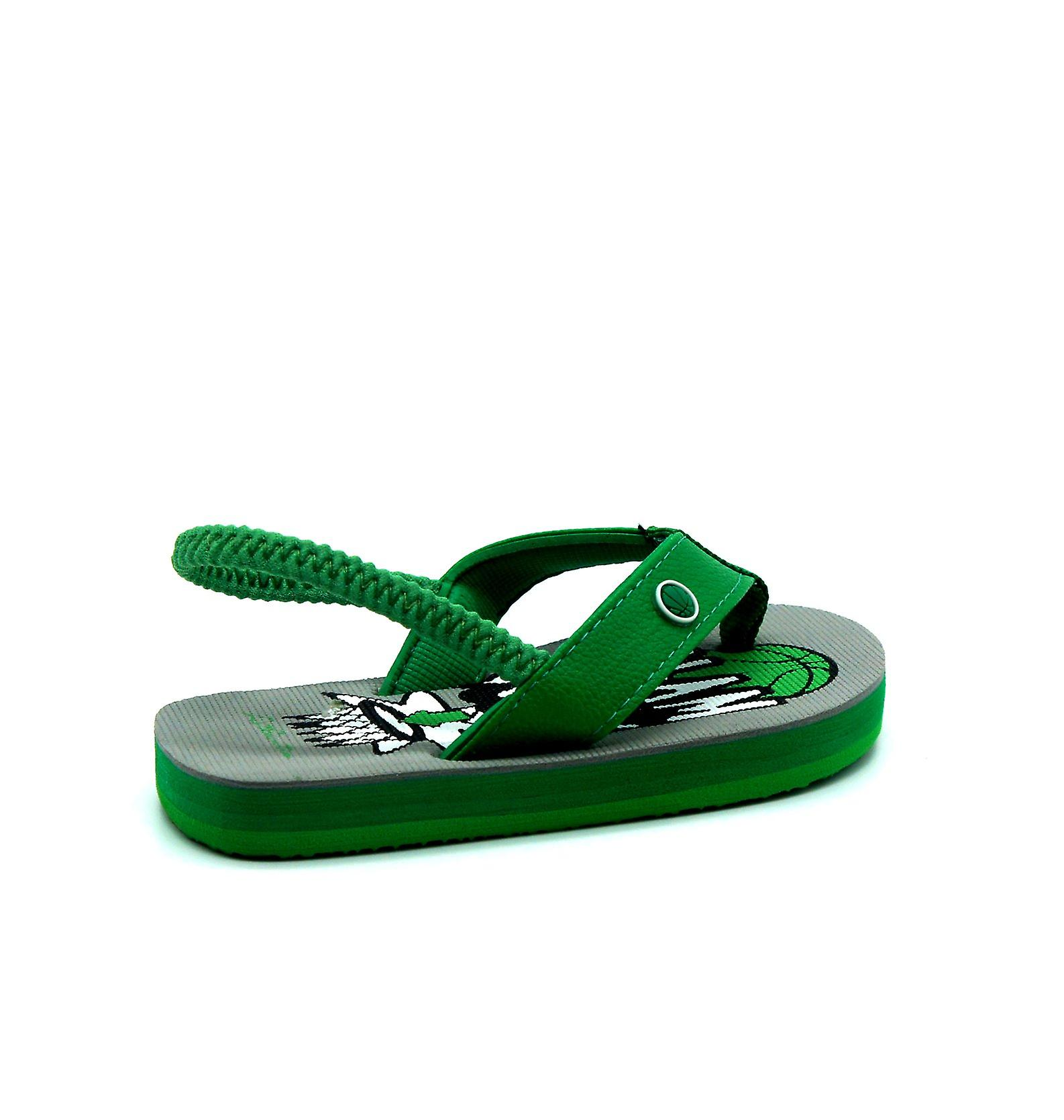 Atlantis Shoes Kids Supportive Cushioned Comfortable Sandals Flip Flops Slamdunk Green