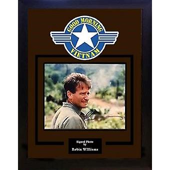 Good Morning Vietnam - Signed by Robin Williams - Framed Artist Series