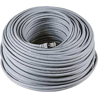RJ45 Networks Cable CAT 6A S/FTP 30 m Grey UL-approved, Flame-retardant, incl. detent EFB Elektronik