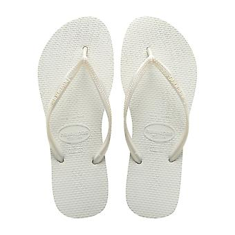 Havaianas Slim - Blanco (White) Womens Sandals Various