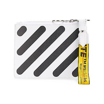 Off-White Damen OWNA048S184231680110 Weiss Leder Clutch