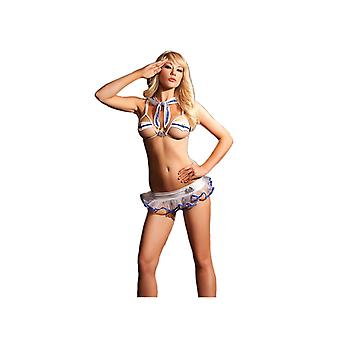 Be Wicked BW1156 4-PC Sexy Rear Admiral Box Set womans costume