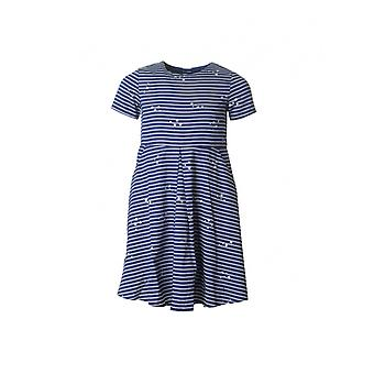 Joules Kidswear Star Print Striped Woven Dress