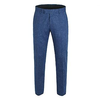 Gibson London Gibson London Blue Tweed Trousers