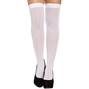 White Hold Up Stockings Fancy Dress Accessory