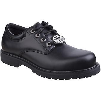 Skechers Mens Cottonwood Elks Slip Resistant Lace up Oxford Shoes