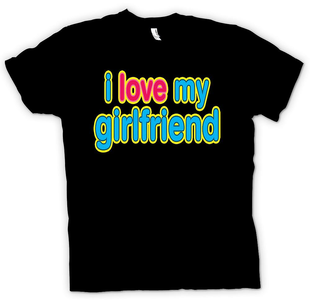 Womens T-shirt - I Love My Girlfriend - lustig